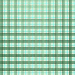 Plaid - Green, Blue, and Cream