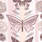 blush pink butterfly garden