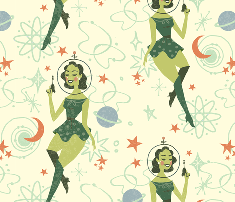 Space Vixen  fabric by baileyknudsen on Spoonflower - custom fabric
