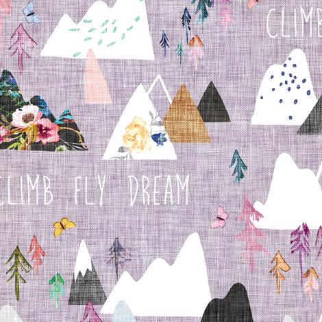 Mountain Dreams (lavender)  fabric by nouveau_bohemian on Spoonflower - custom fabric