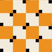 1950s tiles orange