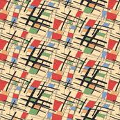 Barkcloth squared