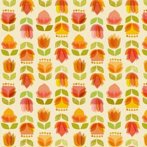 Mid Century Flowers {Spring} - medium scale