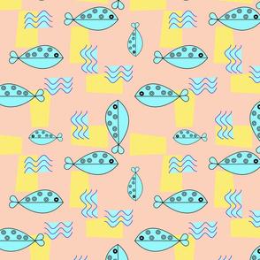Turqoise Fish and Waves