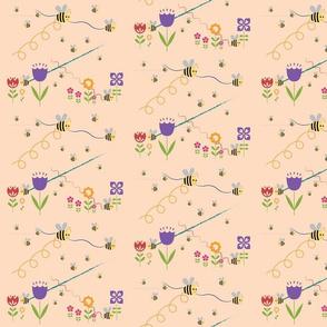 peachy bee blossoom