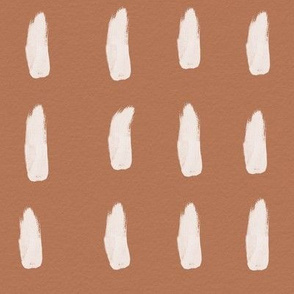 strokes (large) - terracotta brown