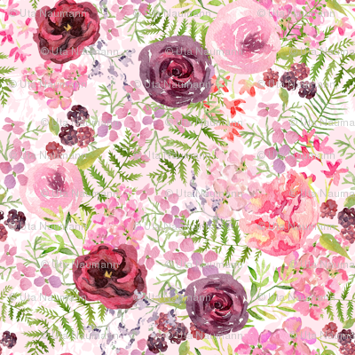 Romantic Roses and Forest