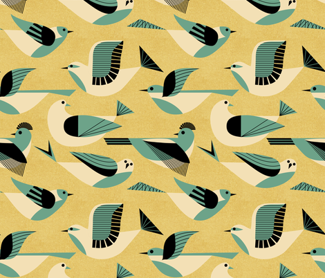 Flying  fabric by vo_aka_virginiao on Spoonflower - custom fabric