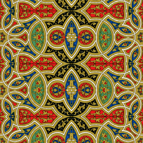 arabesque 138 fabric by hypersphere on Spoonflower - custom fabric
