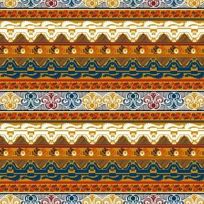 Aztec Colored Gold Border