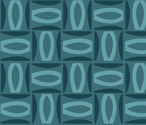 Alcedo - Blue fabric by theaov on Spoonflower - custom fabric