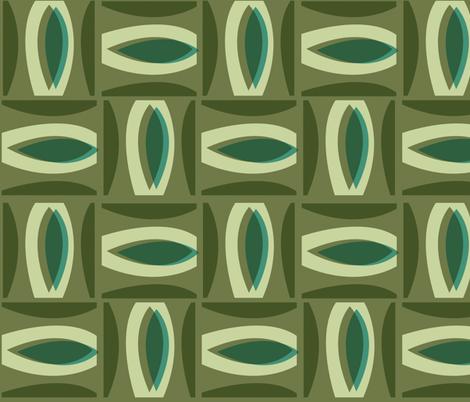 Alcedo - Green fabric by theaov on Spoonflower - custom fabric