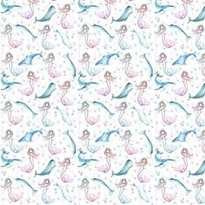 """1"""" mermaids white"""