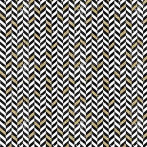 Chevron Gold Black Vertical
