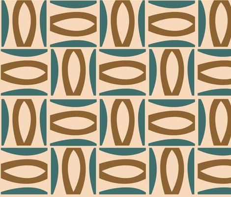 Alcedo - Teal fabric by theaov on Spoonflower - custom fabric