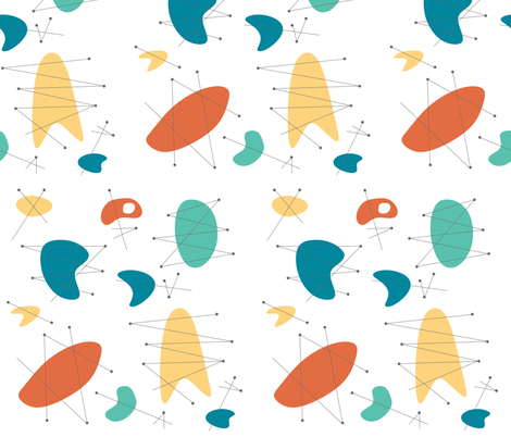 Pendan - Orange fabric by theaov on Spoonflower - custom fabric