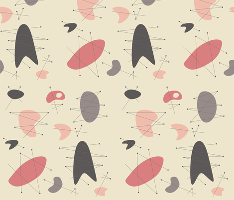 Pendan - Pink fabric by theaov on Spoonflower - custom fabric