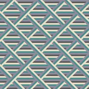 50s patchwork stripes pastel
