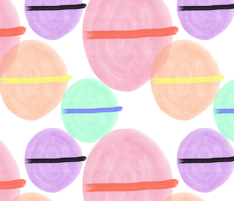 paint blobs fabric by nicolaclare on Spoonflower - custom fabric