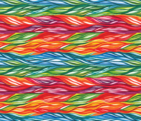 Rainbow Hair Vines fabric by fabric_is_my_name on Spoonflower - custom fabric