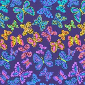 Rainbow Dot Butterlies