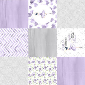Ballerina//Lavender - Wholecloth Cheater quilt - Rotated
