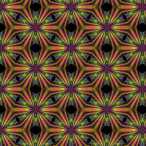 Geomteric color wedge fractal repeat