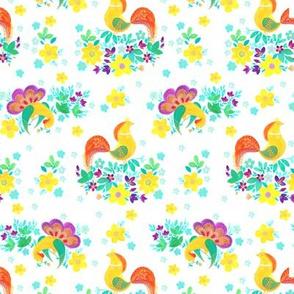 Birds &flowers