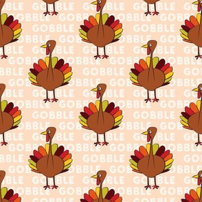 gobble gobble - thanksgiving turkey blush