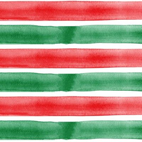 christmas red and green watercolor stripes