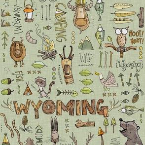 Wild in Wyoming - green