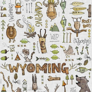 Wild in Wyoming - light gray