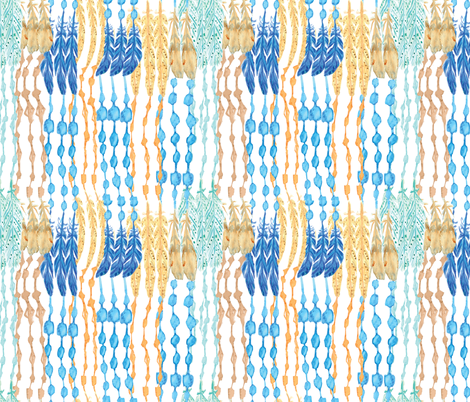 Native American Feather Strings fabric by fabric_is_my_name on Spoonflower - custom fabric