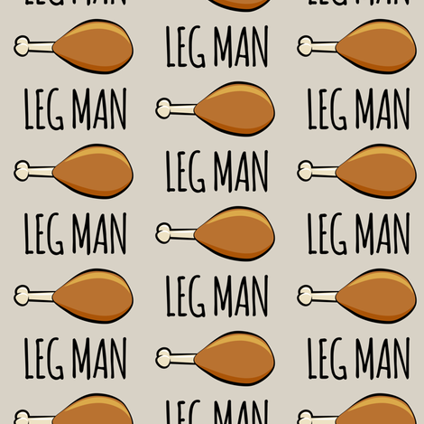 turkey legs - Leg man- beige fabric by littlearrowdesign on Spoonflower - custom fabric