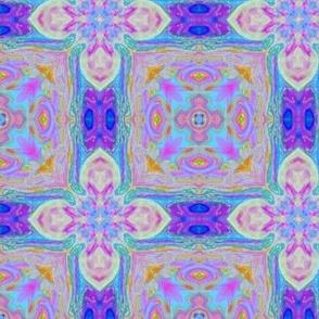 Tiled Flower blue purple