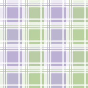 Smashing Lilac and Green plaid