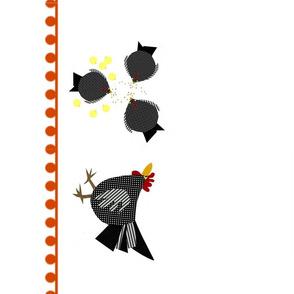 illustrated animals tea towel-chicken coop