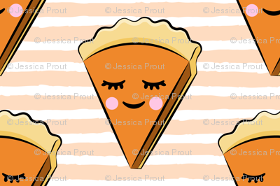 Pumpkin pie slice - blush stripes - cutie pie
