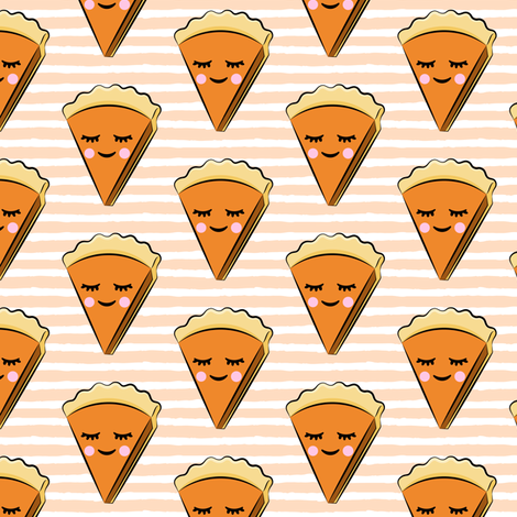 Pumpkin pie slice - blush stripes - cutie pie fabric by littlearrowdesign on Spoonflower - custom fabric
