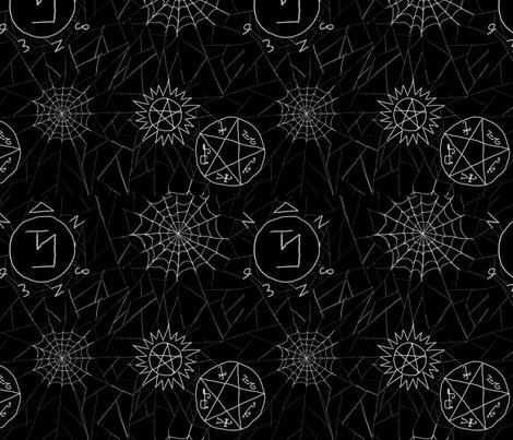 Supernatural spiderwebs fabric by jilra_creative on Spoonflower - custom fabric