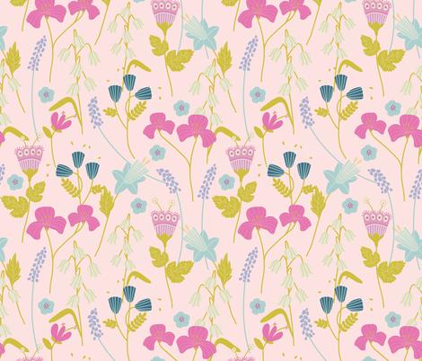 Larkrise in Pink fabric by jofryerdesigns on Spoonflower - custom fabric