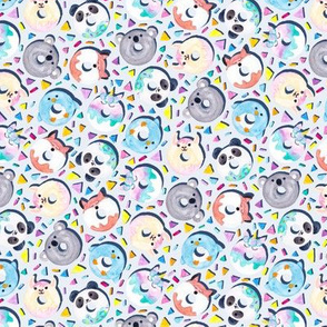 Animal Donut Confetti (Gray)