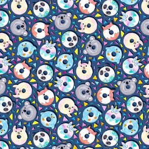 Animal Donut Confetti (Denim)