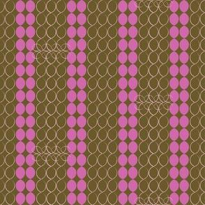 60s chain stripe co-ordinate - brown & pinks