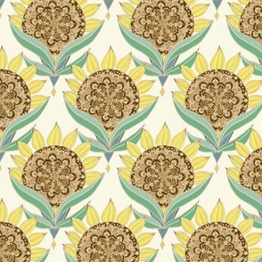 art deco sunflower pattern