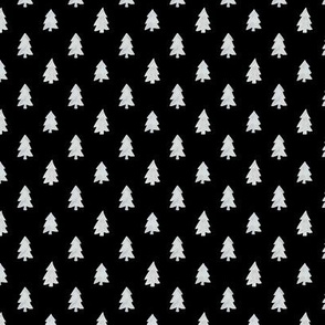 Christmas Pines in Black - Small