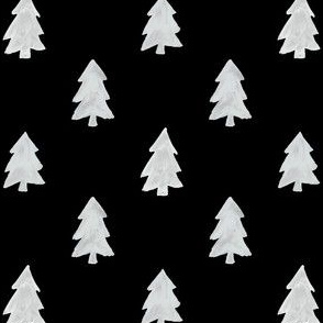 Christmas Pines in Black