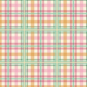 raspberry orange lime sherbet plaid