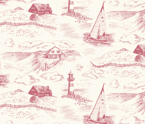 Toile Cape Cod Morning fabric by bear_bell on Spoonflower - custom fabric