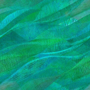 green aquamarine waves